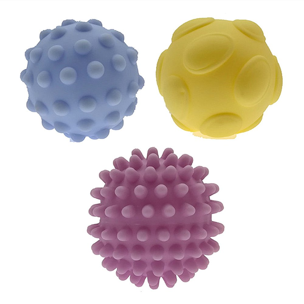 Himki 6 St/ück Baby Ball Set Sensory B/älle Weichgummi Massage Soft Ball A