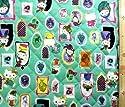 <Qキャラクター・キルティング生地>キティ×サス アンド ヨシュ(グリーン)#2