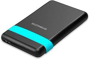 Yottamaster USB 3.0 External Hard Drive Enclosure for 2.5 Inch 9.5mm 7mm SATA HDD SSD