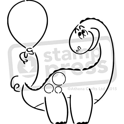 amazon com large a2 dinosaur with balloon wall stencil template