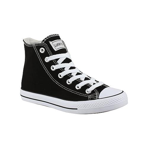 Stiefelparadies Chaussures Femme, Couleur Noir, Taille 37 Eu