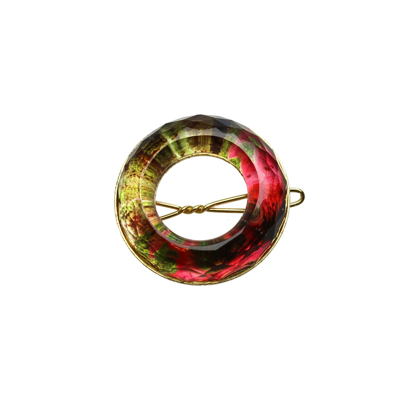 Tamarusan Hair Clip Hairpin Red Donut Hair Decoration Kimono Hair Accessory Women