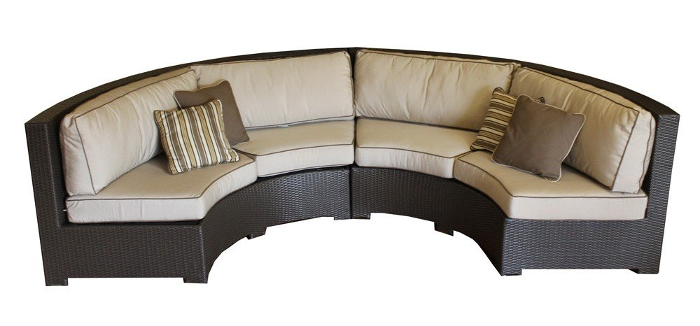 Amazon Com Curved Wicker Sofa Sectional Two Piece Set With