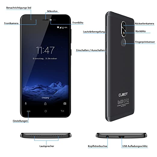 Cubot R9 Andriod 7.0 Nougat Smartphone 2GB RAM, 5.0: Amazon.de ...