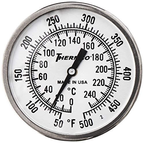 QUINCY LAB 301-2220 Dual Range Dial Thermometer for Bench Oven, In Door by Quincy Lab