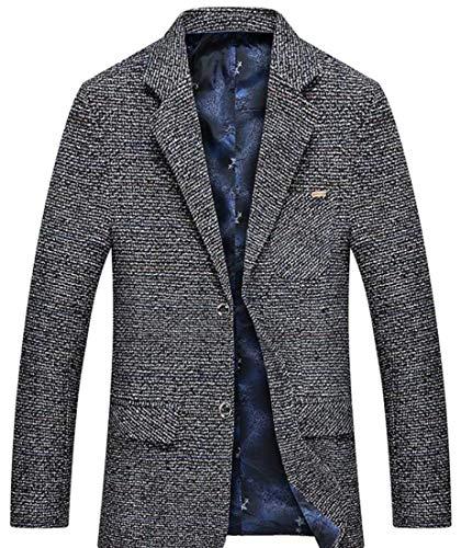 Uomo Leisure Slim Fit Schwarz Casual Suit Giacche Chic Button Mieuid Elegante Blazer Da Giacca One QrCtshxBd