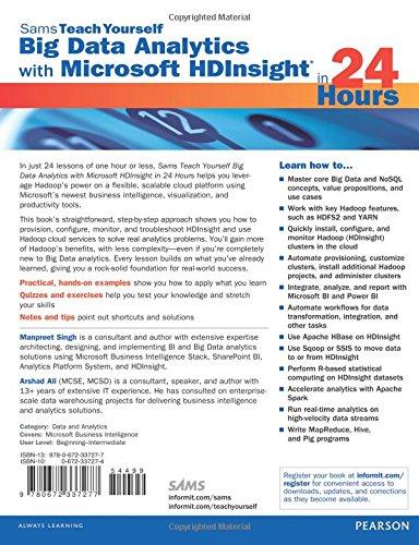 Buy Big Data Analytics with Microsoft HDInsight in 24 Hours, Sams