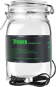 "iPower GLHTMTXS Durable Waterproof Seeding Heat Mat Warm Hydroponic Pad Plant Starting Kit for Kombucha Tea & Beer Brewing, 3"" x 20"", Black"