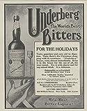1909 Ad Underberg Boonekamp Bitters Cordial Tonic