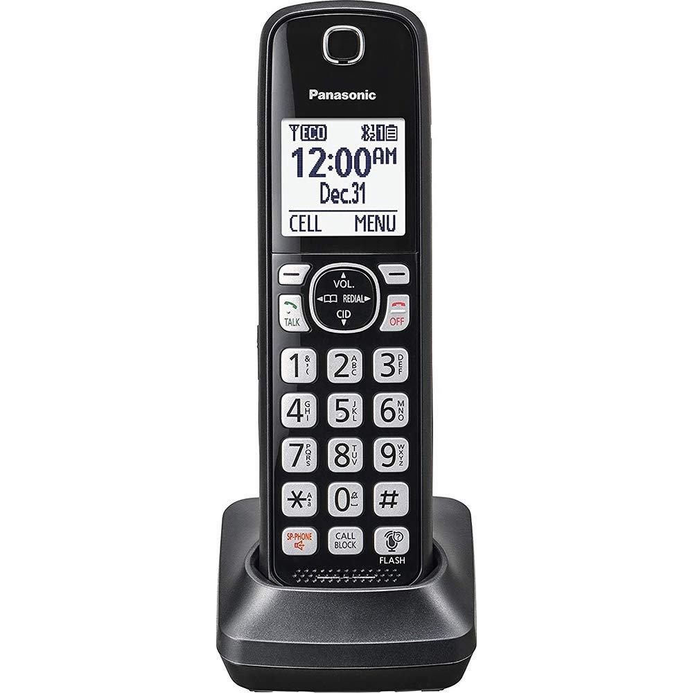 Panasonic KX-TGFA51B Dect 6.0 Digital Additional Cordless Black Handset for TGF5xx Series Renewed