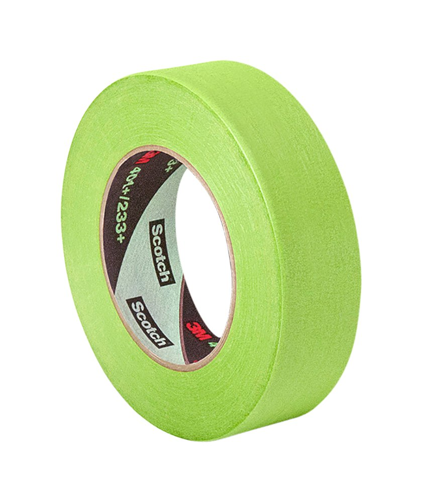 TapeCase 401+ 1 x 60yd High Performance Masking Tape-Converted from 3M 401+/233+, 1 x 60 Yards Roll, Crepe Paper, Green 1 x 60 Yards Roll 3M 401+ 1 x 60yd