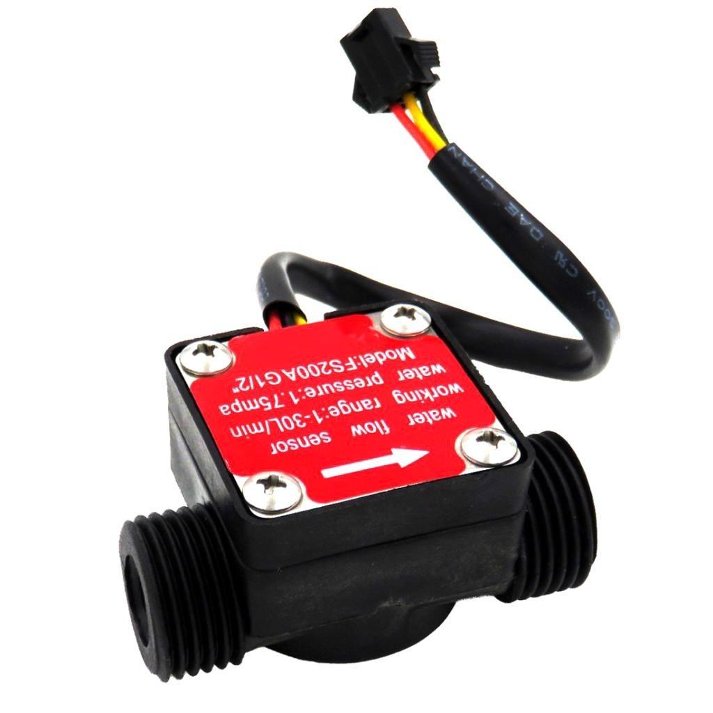 1//2/'/' Water Flow Sensor Control Effect Flowmeter Hall 1-30L//min For Arduino New