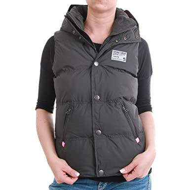outlet store 1e882 ae81c Superdry Weste Women - HOODED POLAR CAMPING VEST - Grey-Pink ...