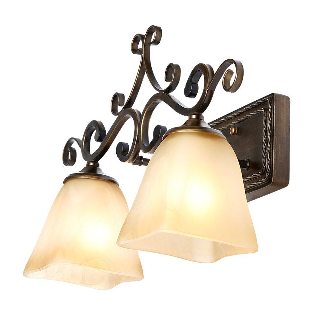 Energie sparen Spiegel vorne Lichter, einfaches Badezimmer Spiegel Spiegel Spiegel vorne Licht amerikanischen Stil ländlichen kreativen wasserdichtes Badezimmer Spiegel Licht machen Spiegelschrank E27 Dauerhaft 414dbf