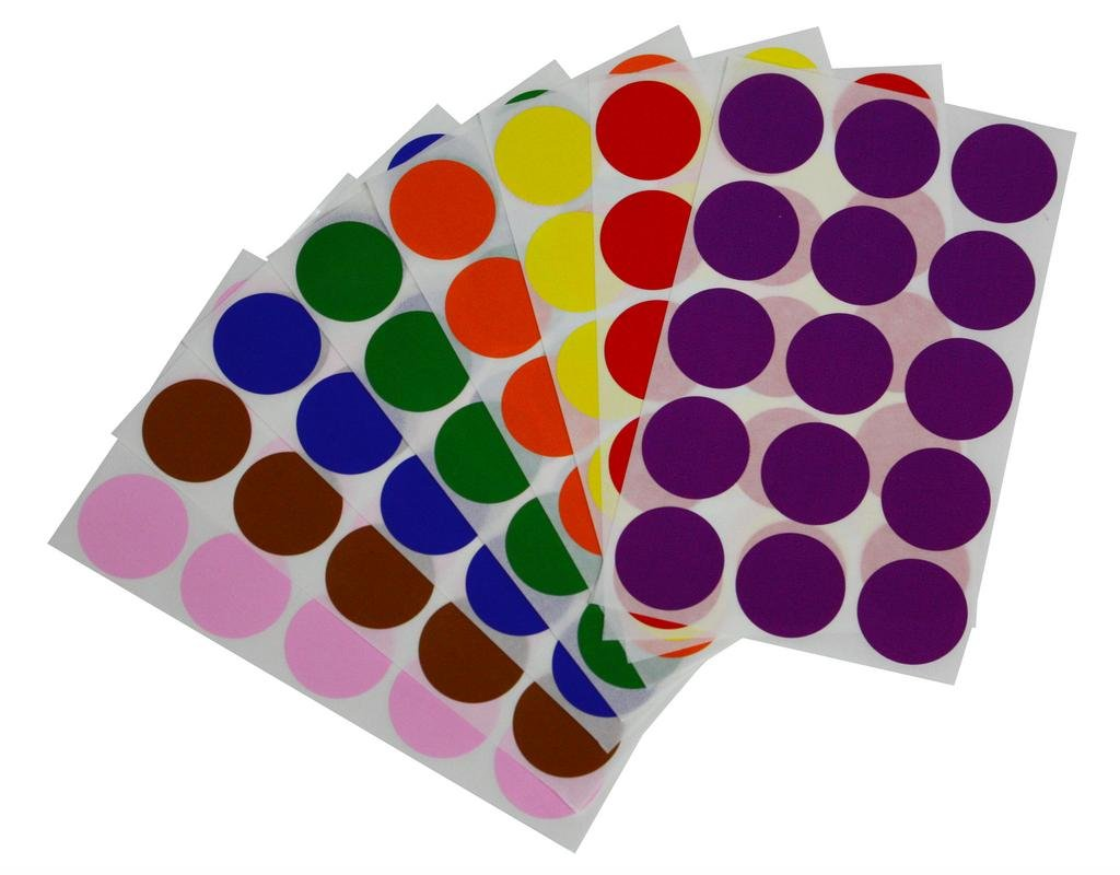 Royal Green Etiquetas de Sello de Sobres 3 cm Pegatinas en Forma de Puntos en Color Naranja 30 mm Paquete de 225