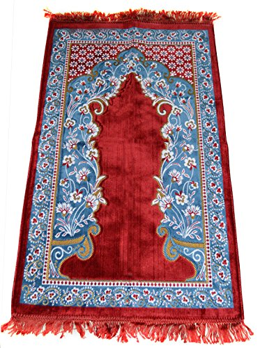 Prayer Rug Made in Turkey with Fine Soft Velvet Superior Quality by Prayer Rug
