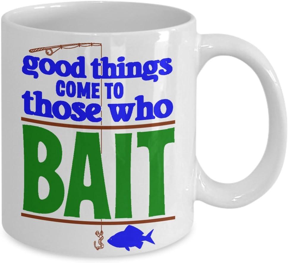 Fishing - New /& Boxed Coffee // Tea Mug Good Things Come to Those Who Bait