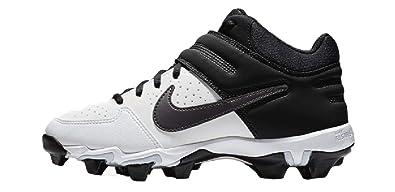 f994609192a Nike Kids Alpha Huarache Varsity Keystone Mid GS Baseball Cleat  White Thunder Grey Black