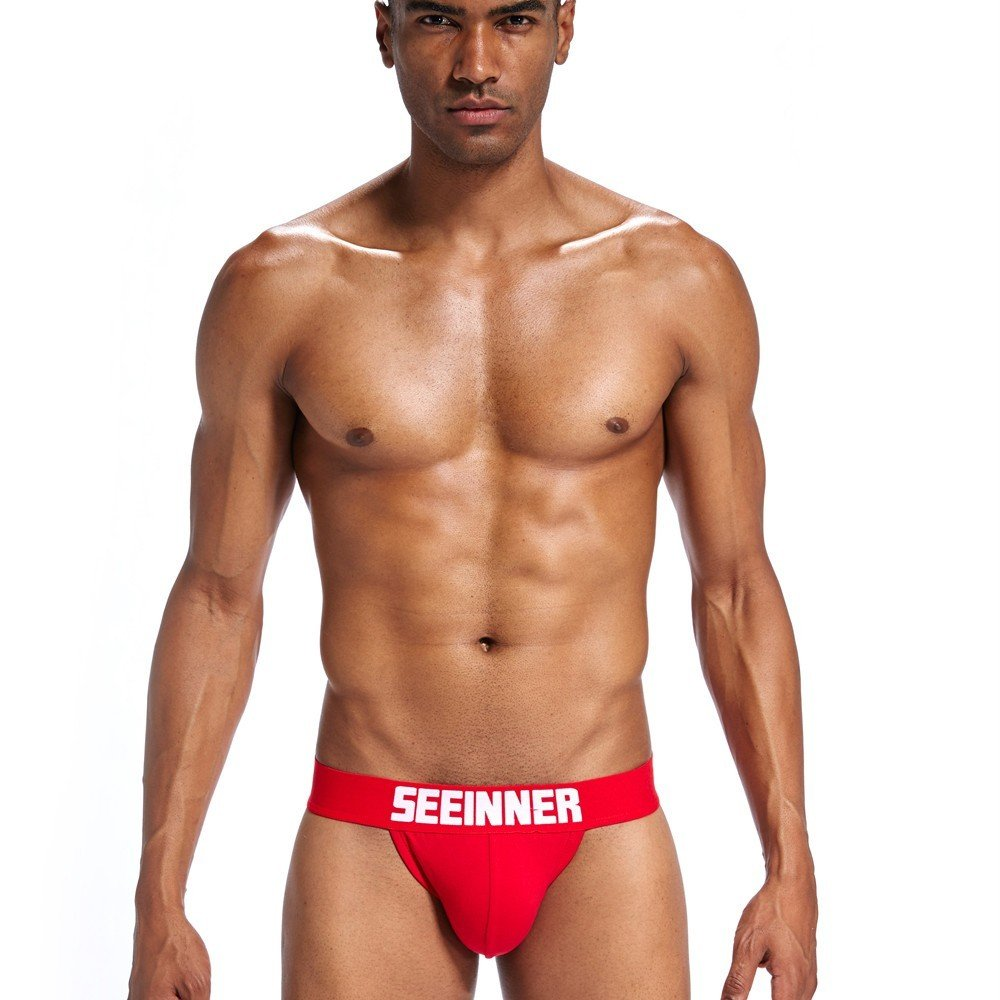 Sexy Lingerie for Men for Sex Wugeshangmao Men's Shorts Bulge Pouch Briefs G-Strings Underpants Honeymoon Nightwear Red