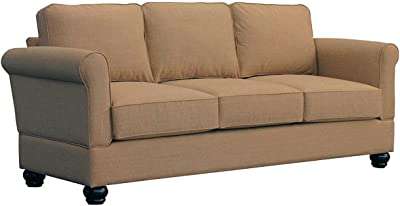 Furniture For Living A1L2-SND Gregory RTA Sofa with Mahogany Legs, Sand