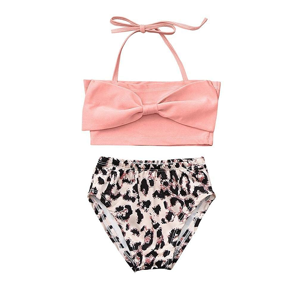 MEIbax Ragazzine Costumi da Bagno Bikini da Spiaggia e Pantaloncini Eleganti Estivi Tankini Bambini Bikini Set Vacanze Beachwear Costume da Bagno Bambina