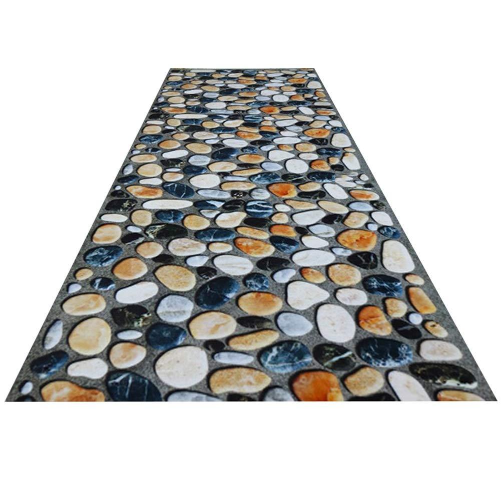 HAIPENG-Läufer Teppiche Flur Eng Eingangsbereich Teppich Rutschfest Gummi Zurück Passage Passage Passage Waschbar Zum Wohnzimmer Esszimmer (Farbe   B, größe   0.9x6m) 11aad1