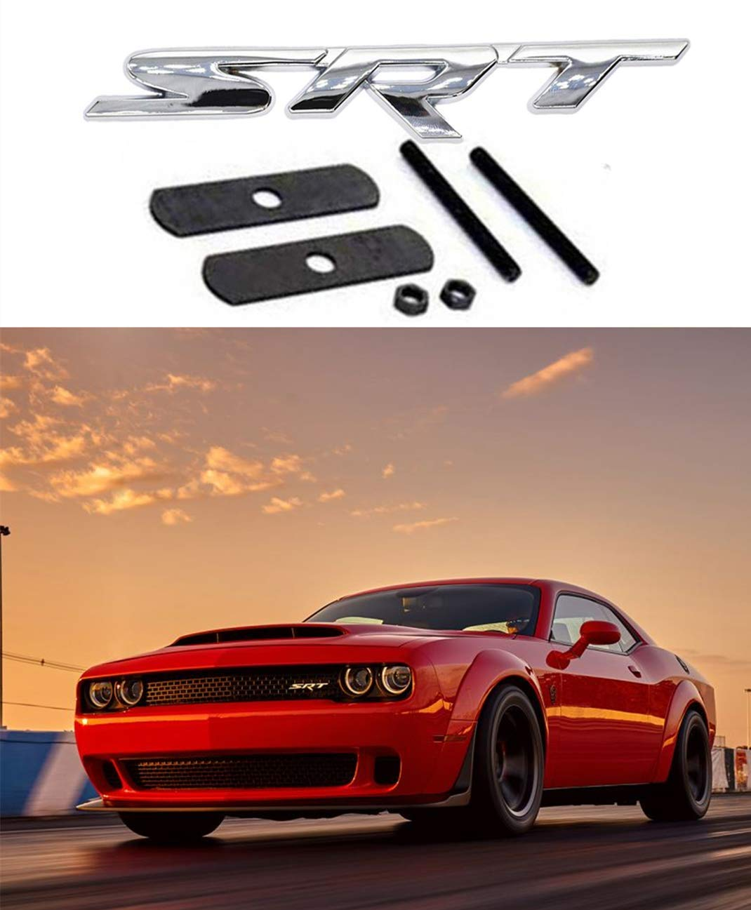 3D Auto Car Metal Hood Front Grilles Grill Badge Emblem Fit Jeep RED