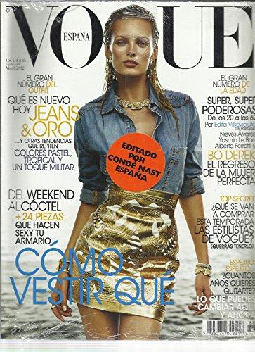 VOGUE, ESPAN EDITION, MARCH, 2012 (COMO VESTIR QUE * DEL WEEKEND ALCOCTEL) by Generic