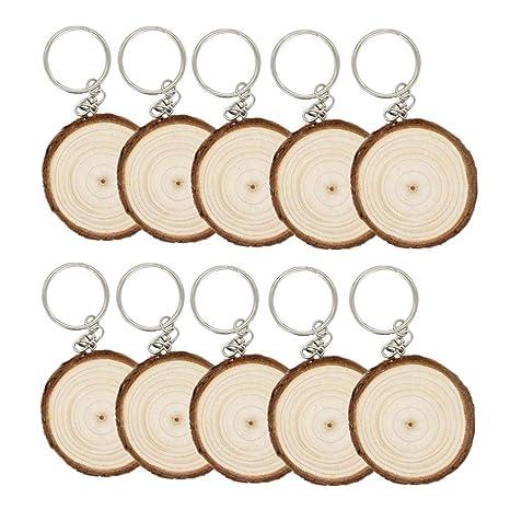 Amazon.com: Eshylala - 10 piezas de madera sin acabar ...