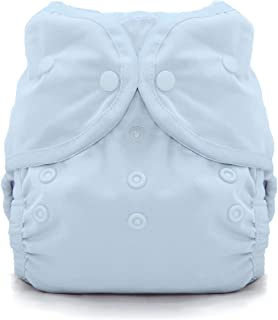 product image for Thirsties Duo Wrap Cloth Diaper Cover, Snap Closure, Ice Blue Size One (6-18 lbs)