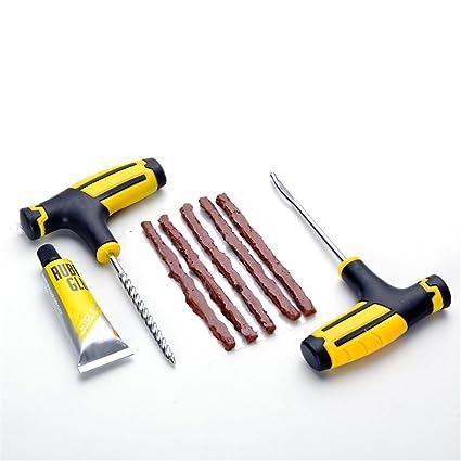 Seasaleshop Kit de reparación de neumáticos reparación pinchazos para reparación neumáticos de Coche y Moto
