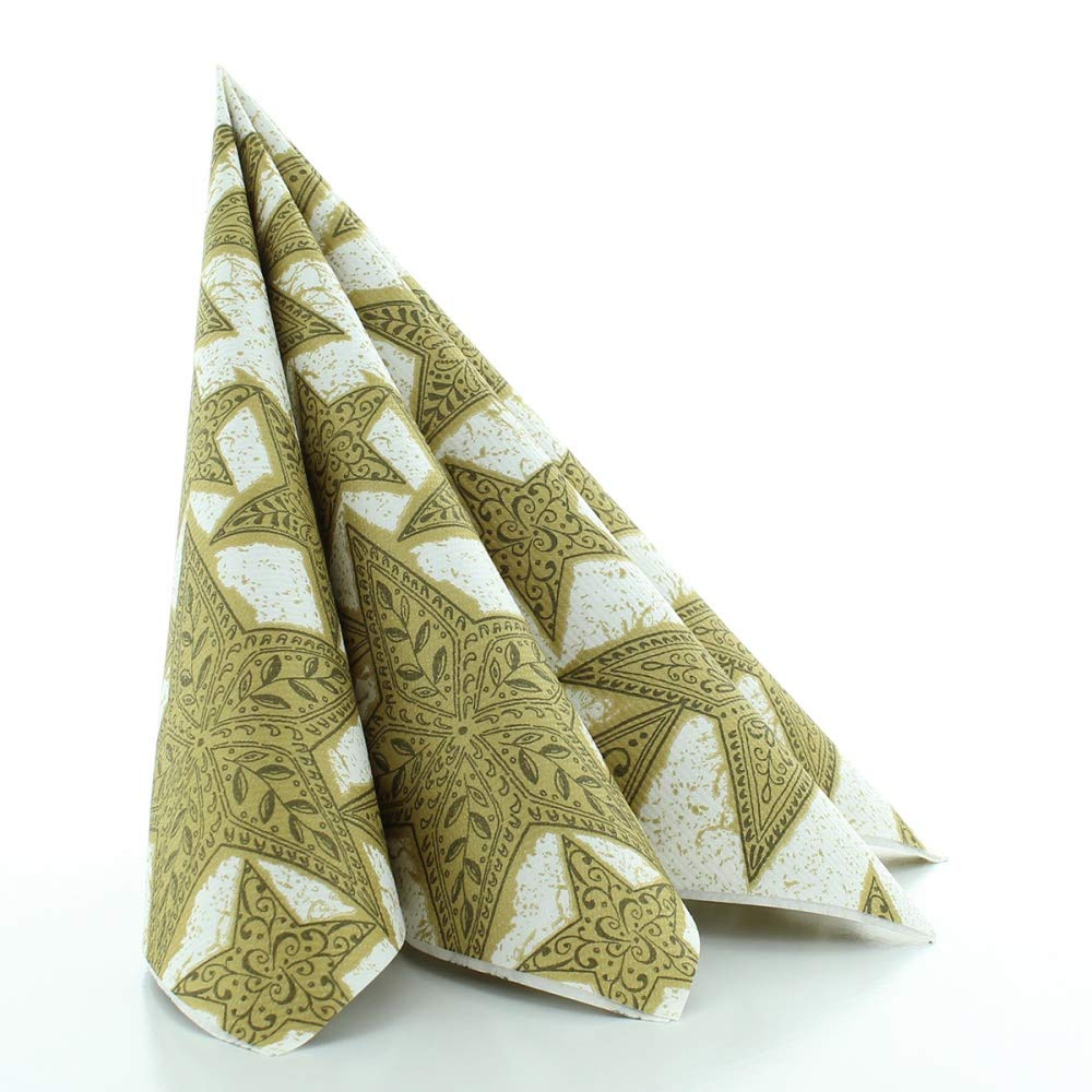 Tiffany Weihnachtsmotive.Amazon De Sovie Horeca Serviette Gitte Gold Schwarz Linclass