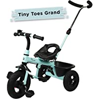 R for Rabbit Tiny Toes Grand Smart Plug and Play Stylish Baby Tricycle Trike Cycle for Kids of 1.5 to 5 Years with Basket,Parentals Control & Rubber Wheels (Lake Blue)