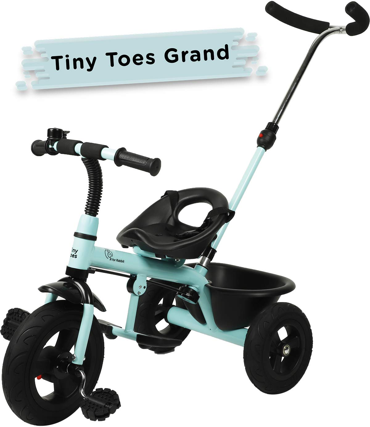 R for Rabbit Tiny Toes Grand Smart Plug and Play Stylish Baby Tricycle Trike Cycle for Kids of 1.5 to 5 Years with Basket,Parentals Control & Rubber Wheels (Lake Blue) (B07HNC9SWL) Amazon Price History, Amazon Price Tracker