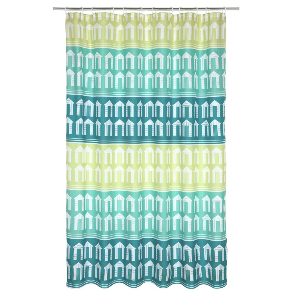 Beach Huts Shower Curtain.: Amazon.co.uk: Kitchen & Home