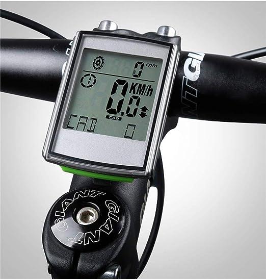 LFDHSF Ordenador para Bicicleta, con Monitor de Ritmo cardíaco de cadencia Ciclismo LED Ordenador para Bicicleta Cuentakilómetros inalámbrico Velocímetro: Amazon.es: Hogar