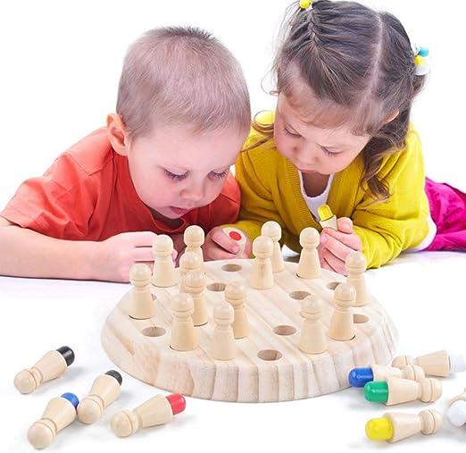 Kawosh Juego de clasificación Juego de Memoria de Madera Juego de Mesa de Memoria Educativo de Madera para Toda la Familia Juego Montessori (24 Figuras y 1 Cubo): Amazon.es: Hogar