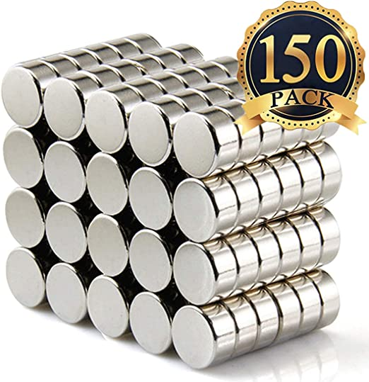 100PCS 6/×3MM Small Cylinder Fridge Magnets Office Magnets Whiteboard Magnets Durable Mini Magnets GBYMIUY Round Refrigerator Magnets
