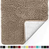 Gorilla Grip Original Luxury Chenille Bathroom Rug Mat, Extra Soft, Durable, and Absorbent Shaggy Rugs, Machine Wash Dry, Perfect Plush Carpet Mats for Tub, Shower, and Bath Room
