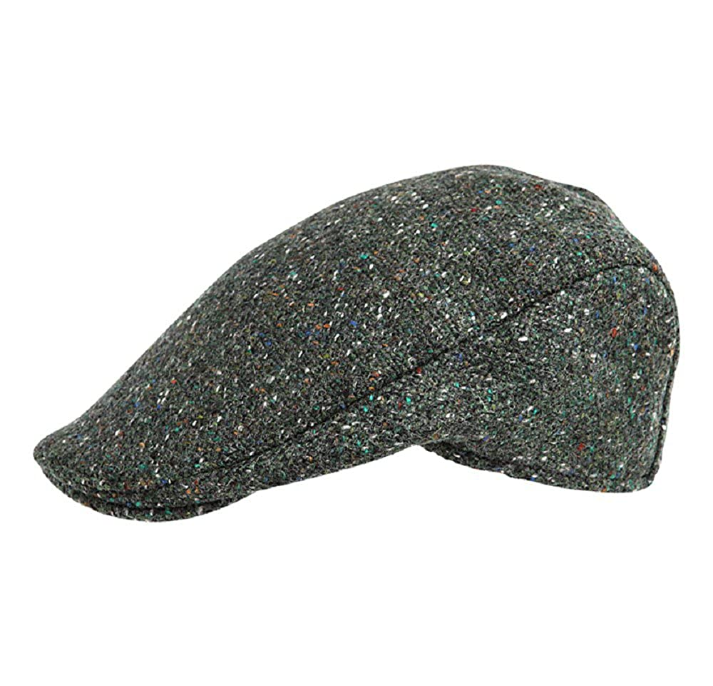 Hanna Hats of Donegal.Irish Flat Cap.Donegal Tweed. Brad Pitt  Style .Green  Tweed at Amazon Men s Clothing store  99b8169a189