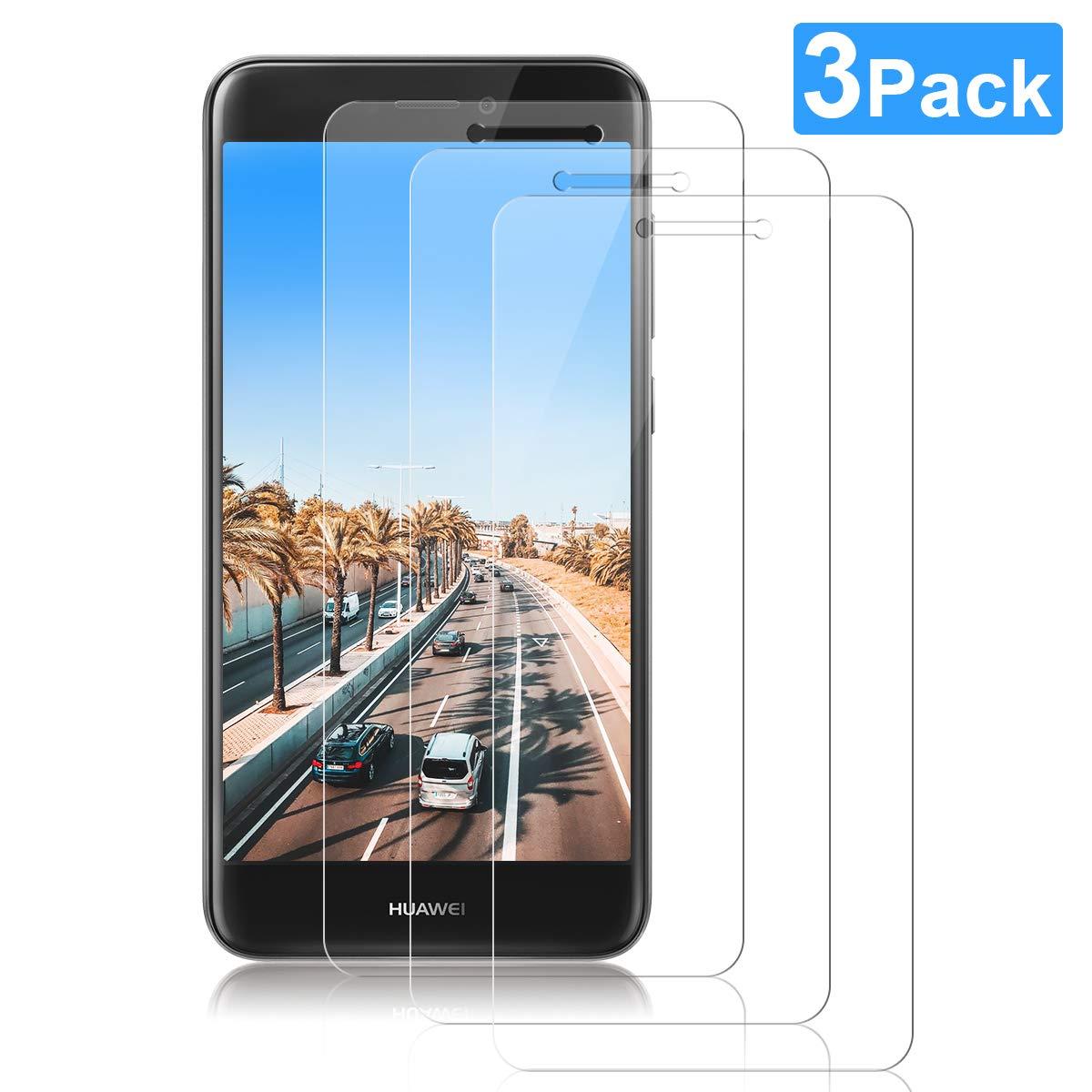 NONZERS Cristal Templado para Huawei P8 Lite 2017,Protector de Pantalla para P8 Lite 2017,Alta Definicion,Resistente a Arañazos y Golpes,3 Unidade