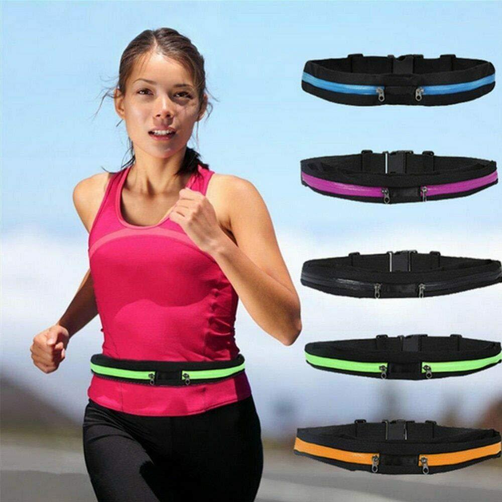 Chomile Marsupio Regolabile a Doppia Tasca da Corsa per telefoni cellulari Fitness Sport