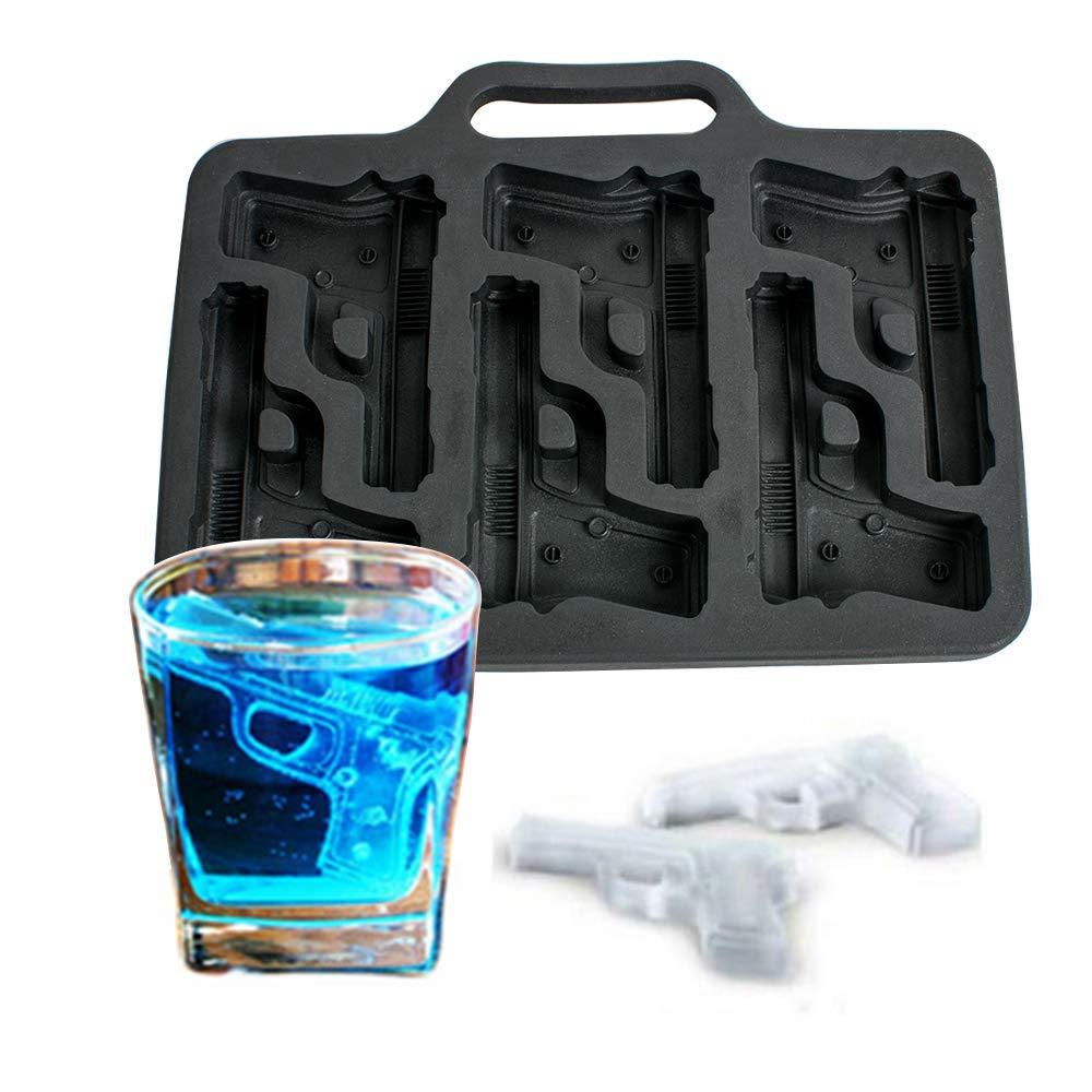 Ovovo pistol ice cube trays handgun ice cube trays silicone ice cube molds