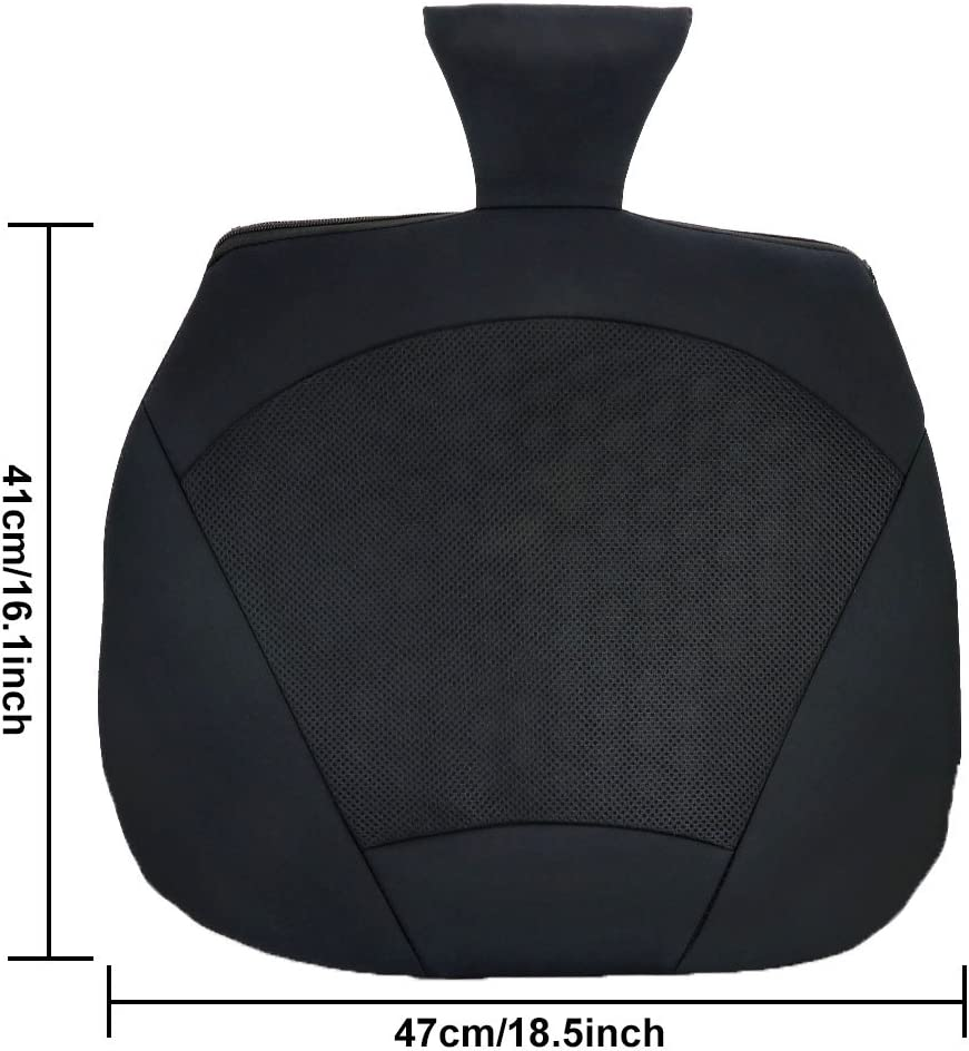Lower Back Lumbar Support /& Perfect Sitting Posture Orthopedic Gel Pad for Cooling Effect Black TIROL Universal Breathable Car Seat Cushion for Car Drivers Seat Comfort or Office Chair