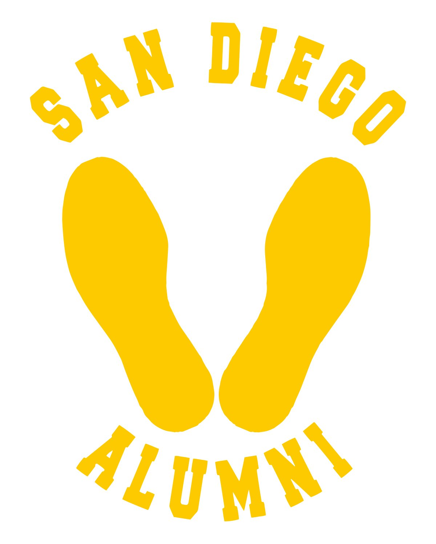 MCRD San Diego Alumni Yellow Footprints Vinyl Decal Sticker, Premium ...