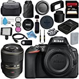 Nikon D5600 DSLR Camera (Body Only) (Black) 1575Nikon AF-S VR Micro-NIKKOR 105mm f/2.8G IF-ED Lens 216062mm 3 Piece Filter Kit + 256GB SDXC Card + Professional 160 LED Video Light Studio Series Bundle