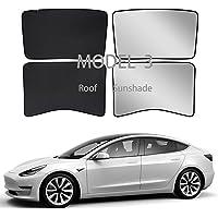 Tesla Model 3 Sunshade Roof Window Skylights Sun Shade with Uv/Heat Insulation Cover for Rear Glasses Tesla Model 3 2016…