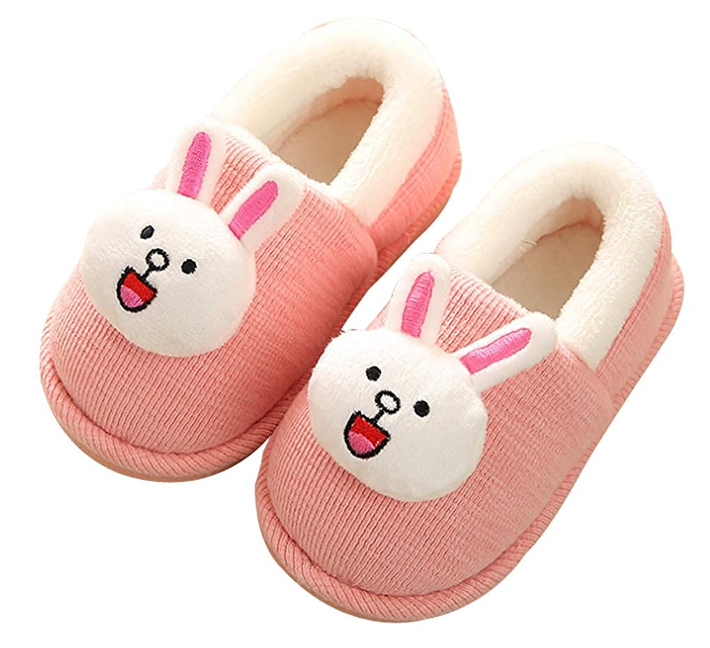 Cattior Kids Animal Warm Slippers Fluffy Slipper Shoes Toddler Little Kid