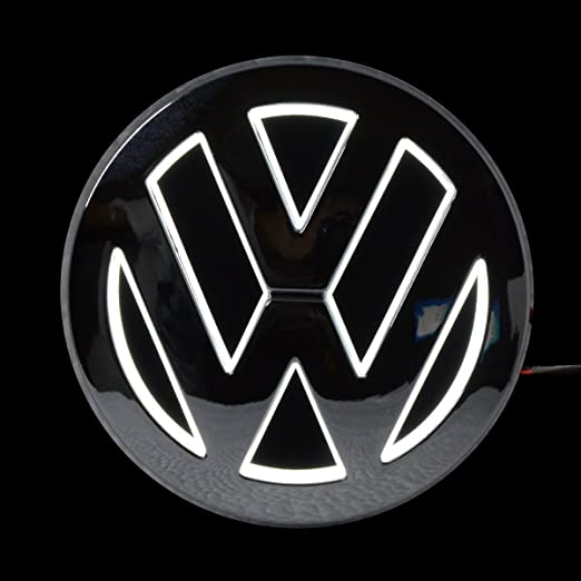 5d Led Car Tail Logo Light Badge Lamp Emblem Sticker For Vw