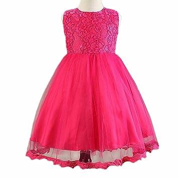 Wgwioo Blumenmädchen Kleid Prinzessin Kinder Kleidung Bögen Tüll ...